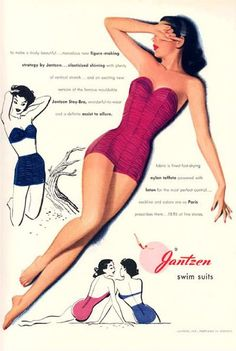Vintage ads for women's swimsuits