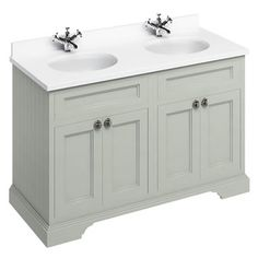 Burlington Olive 1300mm Freestanding Double Vanity Unit & Basin