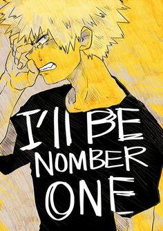 "I'll be number one, text, sad, crying, Bakugou ""Kacchan"" Katsuki; My Hero Academia"