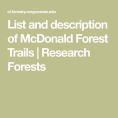 19 Best Corvallis Trail Maps images