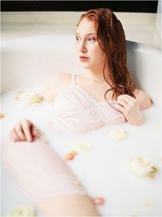milk bath bridal boudoir