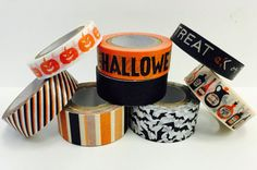 8 Rolls Spooky Halloween Decorative Washi by PlayingWithColor2