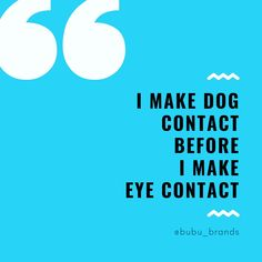 A post about dogs saying I Make Dog Contact Before I Make Eye Contact! Cute Cat Quotes, Puppy Quotes, Pet Quotes, Dog Quotes Funny, Animal Quotes, Funny Dogs, Aspergers Women, Natural Dog Treats, Pet Sitting