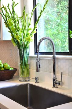 Neely Road Kitchen Refresh: restaurant style  faucet, extra deep stainless single basin sink