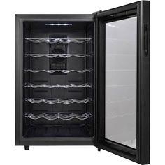 Magic Chef - 28-Bottle Wine Cooler - Black