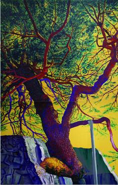 The song of my Life-문암송/ Acrylic on canvas/260.6x162.2cm/162.2x132.0 2개