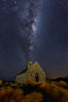 *Milky Way over the Church of The Good Shepherd in Lake Tekapo - Photo by Guide to New Zealand*