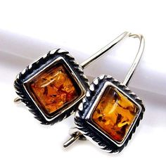 Vintage Style Sterling Silver Natural Baltic Amber Dangle Earrings  Price : $18.50 http://www.silverplazajewelry.com/Vintage-Sterling-Silver-Natural-Earrings/dp/B00J4TAS1E