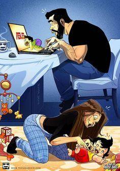 Cute Couple Comics, Couples Comics, Cute Couple Cartoon, Cute Couple Art, Cute Love Cartoons, Funny Couples, Cute Comics, Funny Comics, Humour Couple