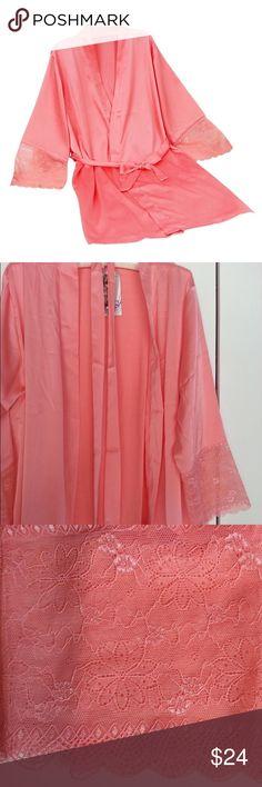 "Bathrobes Sleepwear Lace Silk Pre-Order Material:Cotton,Silk,Polyester,Nylon,Spandex,Rayon,Linen          Size       Length          Sleeve            Shoulder             M         84cm/33""      44cm/17.3""     38cm/14.9""             L         86cm/33.8""   48cm/18.8""     40cm/15.7""    XL       90cm/35.4""    50cm/19.6""    43cm/16.9""                 XXL     94cm/37""       50cm/19.6""    44cm/17.3"" Intimates & Sleepwear Robes"