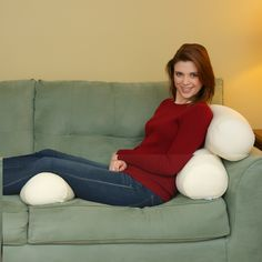 The Squishy Deluxe Microbead Body Pillow provides total body comfort.