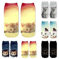 """Search 3D Cat Printed An...    Use our welcome code """"YESS"""" http://lovmii.com/products/3d-cat-printed-anklet-socks?utm_campaign=social_autopilot&utm_source=pin&utm_medium=pin #womenswear #womenfashion #trends #womenempowerment #love"""