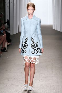 Honor Spring 2015  That scalloped skirt! It reminds me of little kid craft projects/vinyl sticker sheets in the best way possible.