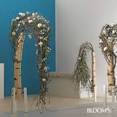 Klaus Wagener Cascade Design, Birch Wedding, Engagement Decorations, Art Competitions, Mechanical Design, Funeral Flowers, Headpiece Wedding, Arte Floral, Flower Show