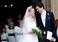Prins Amedeo, de zoon van Prinses Astrid, en zijn Italiaanse vrouw Elisabeth Rosboch von Wolkenstein - 5 jul 2014
