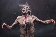 Olivier de Sagazan | by Olivier De Sagazan | Dark painting | Pinterest