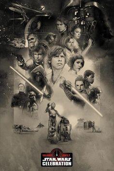 póster del 40 aniversario de Star Wars