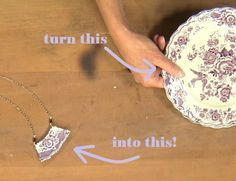 turn a plate into jewelry! from Broken China Jewelry: Use Low-Temp Soldering Tec… turn a plate into jewelry! from Broken China Jewelry: Use Low-Temp Soldering Techniques to Make Jewelry with Laura Beth Love – Jewelry Making Daily Jewelry Making Tutorials, Jewelry Making Supplies, Jewelry Crafts, Handmade Jewelry, Unique Jewelry, Artisan Jewelry, Resin Crafts, Earrings Handmade, Vintage Jewelry