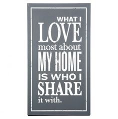 What I #Love #Home #Quote #Wall #Art