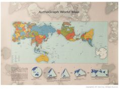 AuthaGraph World Map | Rejigged globe representing the true relative sizes of continents & seas.