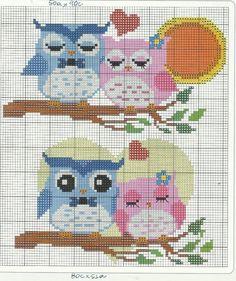 Para você que procura gráficos de corujas para bordar, imagens de corujas para ponto cruz, gráficos de ponto cruz de corujas, chegou ao site certo. Hoje trazemos 66gráficos de corujas para você fazer lindos bordados. Você pode bordar as corujas em...