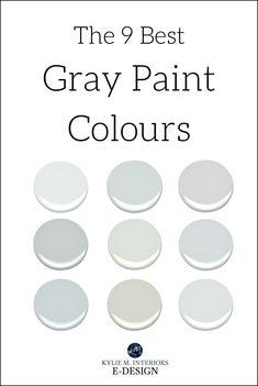 The best benjamin moore gray and greige paint colours. Kylie M interiors E-design, online paint colour consultant