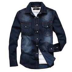 Tommy Jeans Hombre Essential Solid  Camisa Manga Larga