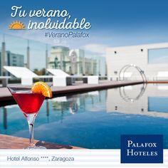 El Hotel Alfonso se sitúa en pleno centro histórico y comercial de Zaragoza y cuenta con una fantástica piscina con unas vistas únicas de la ciudad. Reserva ya y ¡refréscate este verano como nunca! :)