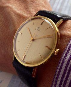 1959 Cyma 18 Jewel mens gold filled watch