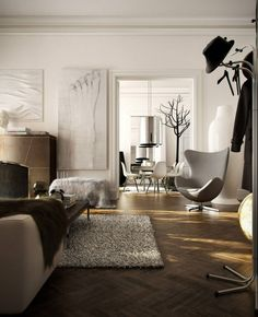 Interior design: Furniture arrangement and function - Part I by Vamvakas Anastassis. 3d artwork by Jeffrey Faranial.