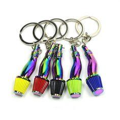 Creative Race Racing Car Charm Metal Key Chain Keyring Men/'s Xmas Gift Blue
