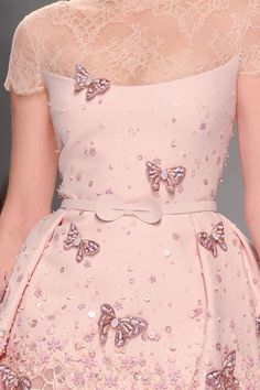 Details from Georges Hobeika Haute Couture Spring/Summer 2015.Paris Fashion Week.