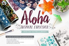 Aloha! Tropical Explosion Collection by SaultDesign on Creative Market