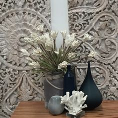 Carved Wall Panels. Looks great with the right accessories.