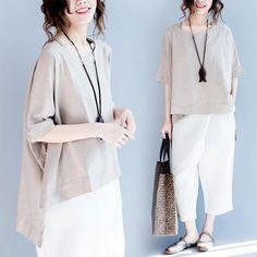 Khaki Tshirt women's clothes 6.20 new arrivals free shipping