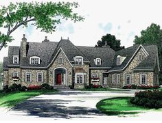 Home Plan HOMEPW16647 - 7238 Square Foot, 6 Bedroom 5 Bathroom + French Country Home with 3 Garage Bays | Homeplans.com