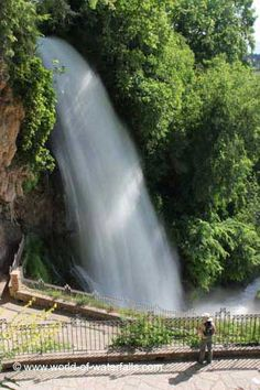 Looking directly at Karanos - the Great Waterfall, Pella Prefecture, Macedonia, Greece
