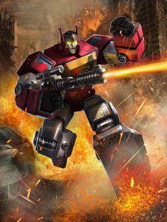 Autobot Blaster Artwork From Transformers legends Game