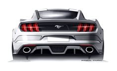Ford Mustang Design Sketch by Kemal Curic 2015 Ford Mustang, New Mustang, Car Design Sketch, Car Sketch, Design Cars, Mustang Drawing, Car Drawing Pencil, E90 Bmw, Cool Car Drawings
