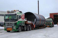 Volvo FH zwaar transport. speciaaltransport uitschuiftreler
