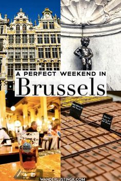 Your guide for a perfect weekend in Brussels Planning a weekend trip to Brussels? Your perfect weekend guide to Brussels, Belgium including a thoughtful itinerary for two days in Brussels, Belgium. Includes the best beer, food, and sights of Brussels! Middle East Destinations, Travel Destinations, Travel Advice, Travel Tips, Travel Packing, Visit Belgium, Sites Touristiques, New Travel, Travel Europe