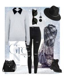 Grey Style by updatesfashion on Polyvore featuring polyvore fashion style Edit Topshop Timberland MICHAEL Michael Kors BERRICLE BeckSöndergaard Ray-Ban