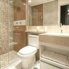 """351 curtidas, 3 comentários - Arquitetura, Decoração, Design (@construindominhacasaclean) no Instagram: """"Banheiro com diversidade de revestimentos  Veja + no blog  www.construindominhacasaclean.com…"""""""