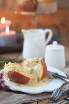 Bratapfel mit Marzipan Füllung und Marzipan Sauce - Baked Apple | Das Knusperstübchen