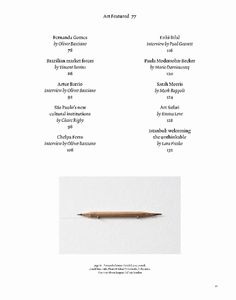Contents page John Morgan studio for ArtReview