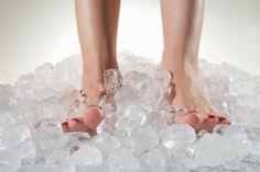 ice deeping shin splints