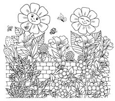 Coloring Pages of Flowers — Happies Wonderful Flowers, Flowers For You, Iris Flowers, Pretty Flowers, Detailed Coloring Pages, Flower Coloring Pages, Free Coloring Pages, Coloring Books, Printable Adult Coloring Pages
