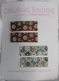 2 sets of 2 inch clips!!   Top Sellers!  Carlykins Boutique Baby Girl Brown Flower by CarlykinsBoutique, $8.00