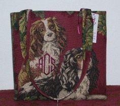 Cavalier Handbag King Charles Cavalier spaniel Tote Bag- A  Selene Original