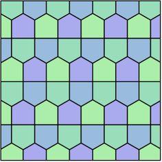 Tiling Dual Semiregular V3-3-3-4-4 Prismatic Pentagonal - Pentagon tiling - Wikipedia, the free encyclopedia